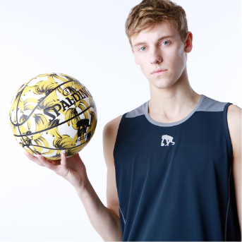 EGOZARUバスケットボール:ボタニカル柄