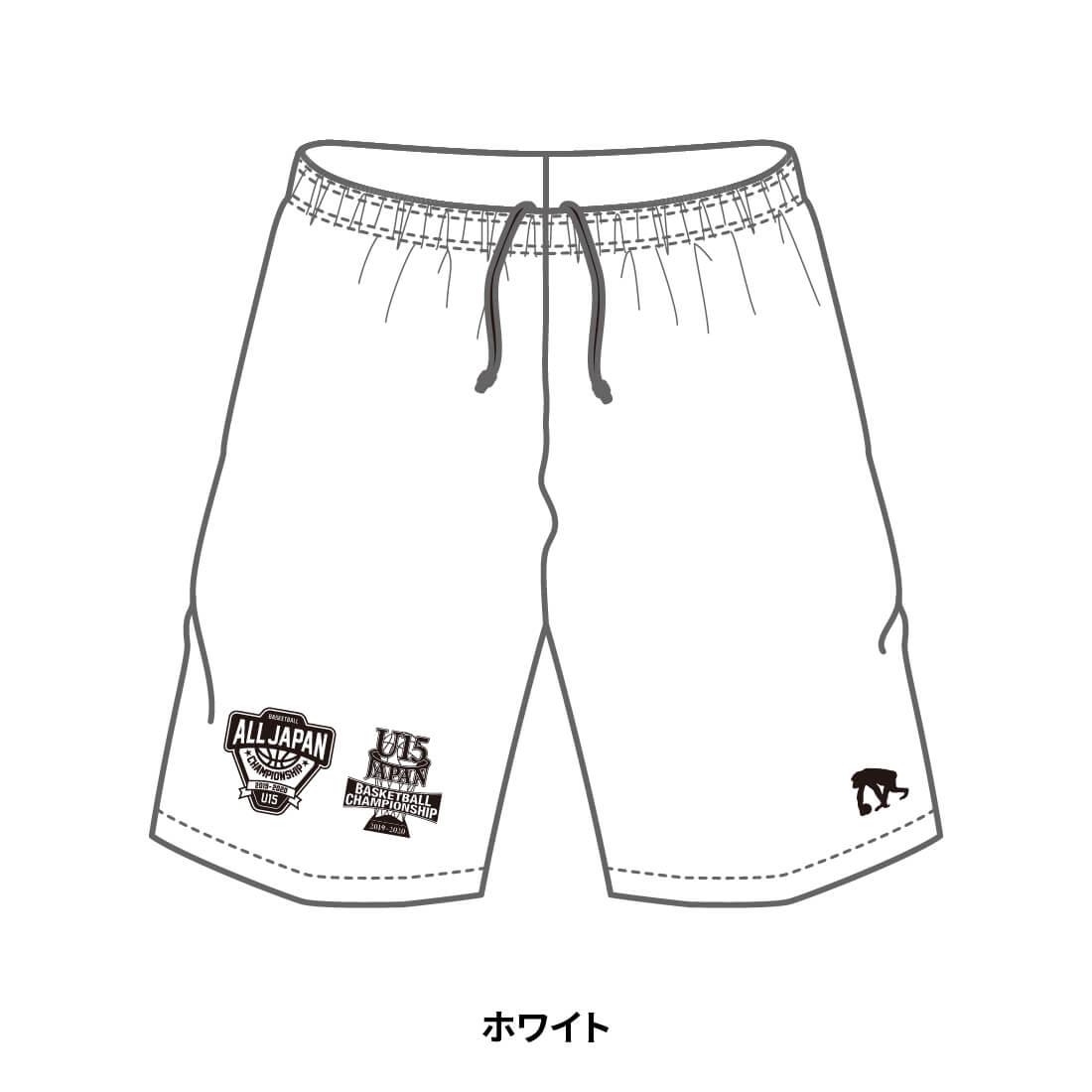 【全国U15限定】EGOZARU COLOR SHORTS ホワイト